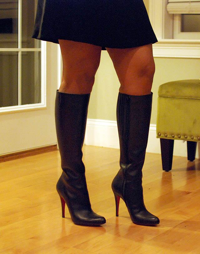 louboutin boots bourge