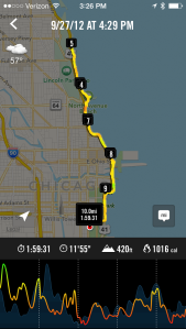 First Chicago 10 mile Run